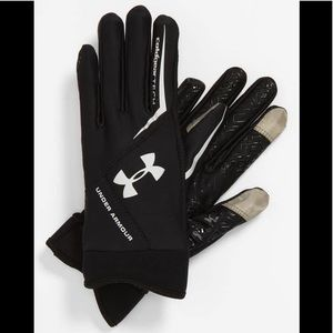 UNDER ARMOUR COLD GEAR TECH GLOVES WORN ONCE S